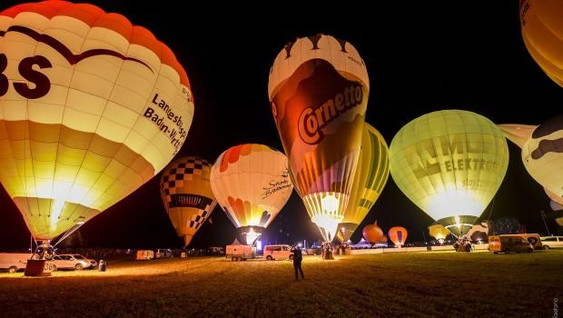 11. Int. GermanCup für Heißluftballone - Night Glow